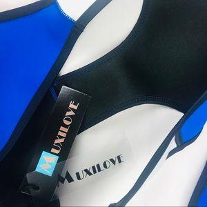 Muxilove Swim - Muxilove color block neoprene bikini swimsuit